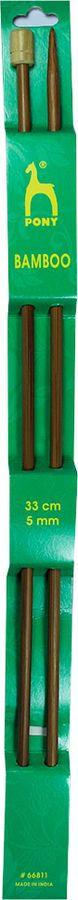 Фото - Спицы для вязания Pony, прямые, 66811, бежевый, диаметр 5 мм, длина 33 см, 2 шт спицы прямые gamma металлические диаметр 5 мм длина 20 см 5 шт