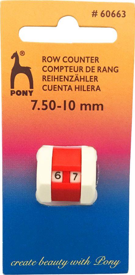 Счетчик рядов Pony, 60663, разноцветный, для спиц 7,5-10 мм60663Счетчик рядов для спиц 7,5-10 мм, 1 шт.