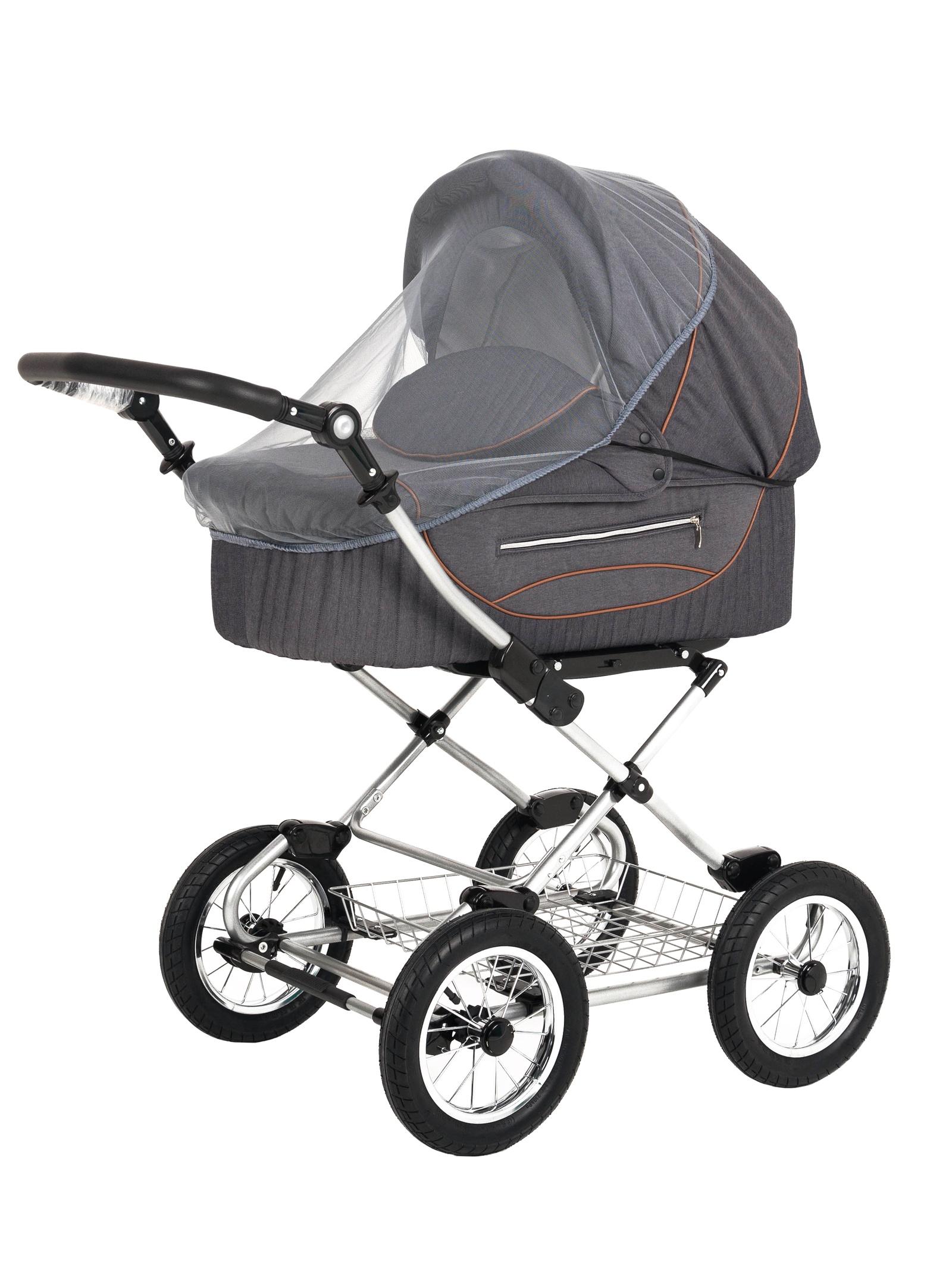 Аксессуар для колясок Trottola Москитная сетка на коляску люльку SUMMER NET CLASSIC серый москитная сетка baby care classic plus белая