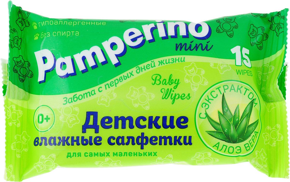 Влажные салфетки для детей Pamperino, 15 шт влажные салфетки pamperino 80 детские без отдушки pamperino