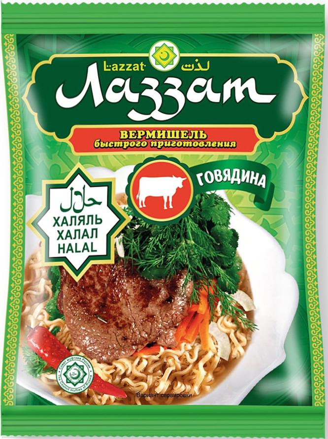 Лапша быстрого приготовления Лаззат, говядина, 50 г