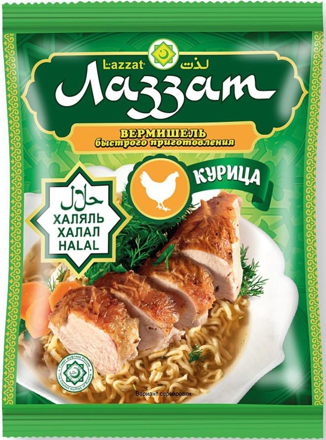 Лапша быстрого приготовления Лаззат, курица, 50 г