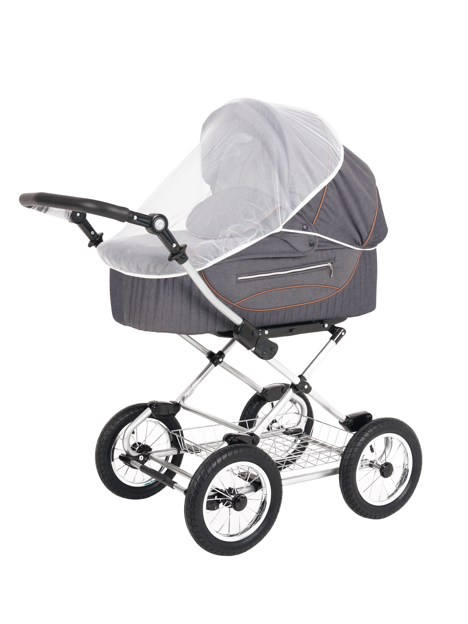 Аксессуар для колясок Trottola Москитная сетка на коляску люльку SUMMER NET CLASSIC белый москитная сетка baby care classic plus белая