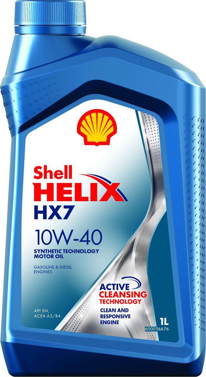 Моторное масло Shell Helix HX7, полусинтетическое, 10W-40, 1 л