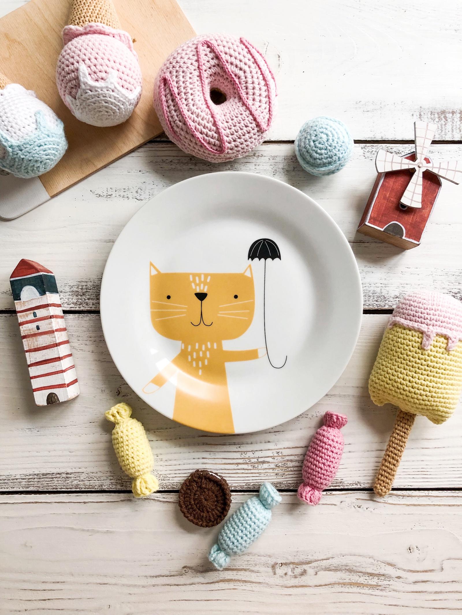 Тарелка Сотвори Чудо Rainy Cat 20, белый тарелка мелкая сотвори чудо бантик sans brides диаметр 20 см