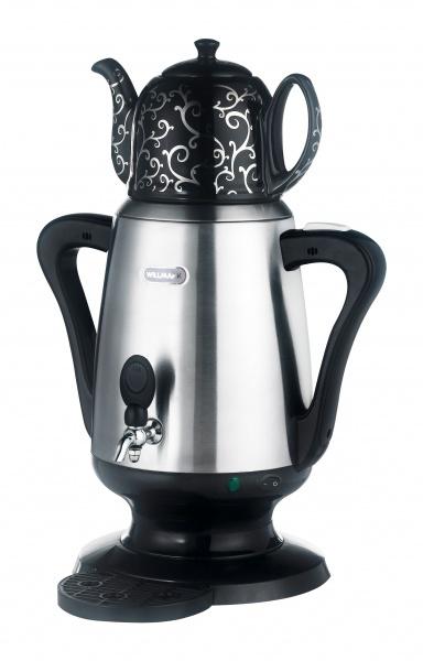 Электрический самовар WILLMARK WES-40SB (нерж.сталь, черный, 4л, заварочный чайник, 2200Вт) чайник электрический supra kes 1839w черный 1 8 л 2200 вт