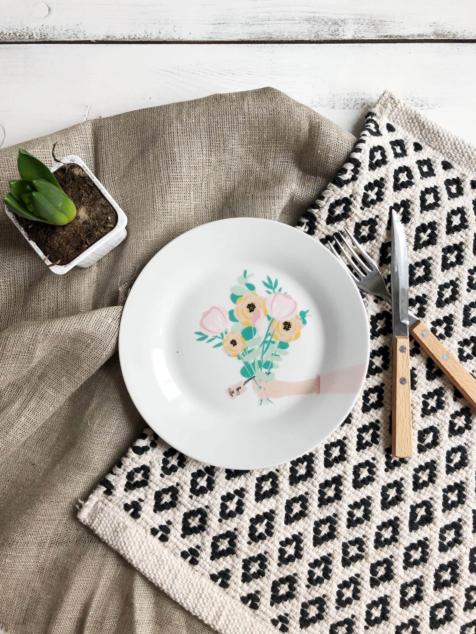 Тарелка Сотвори Чудо For you 20 см, белый тарелка мелкая сотвори чудо бантик sans brides диаметр 20 см