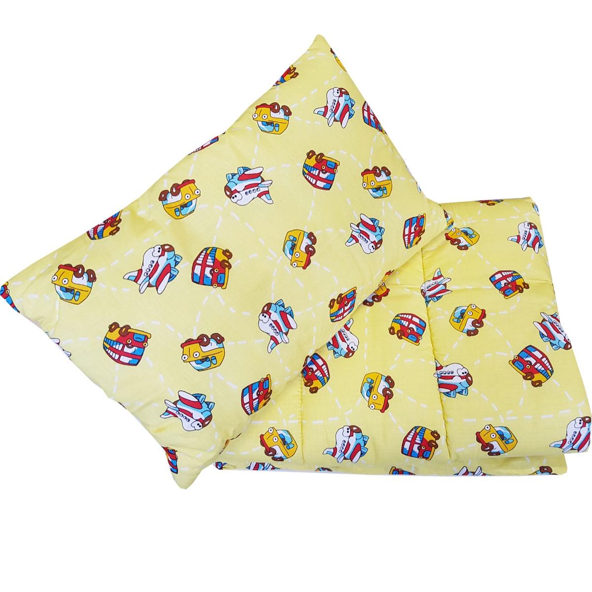 Набор одеяло 110х140 + подушка 40х60 Желтый 1111 подушка аскона sleep professor miracle s 40х60 белый