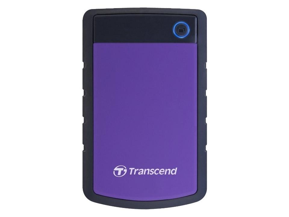 Фото - Портативный внешний жесткий диск Transcend HDD 2 TB H3 , 2.5, USB 3.0, фиолетовый transcend storejet 25h3 blue 1tb 2 5 синий