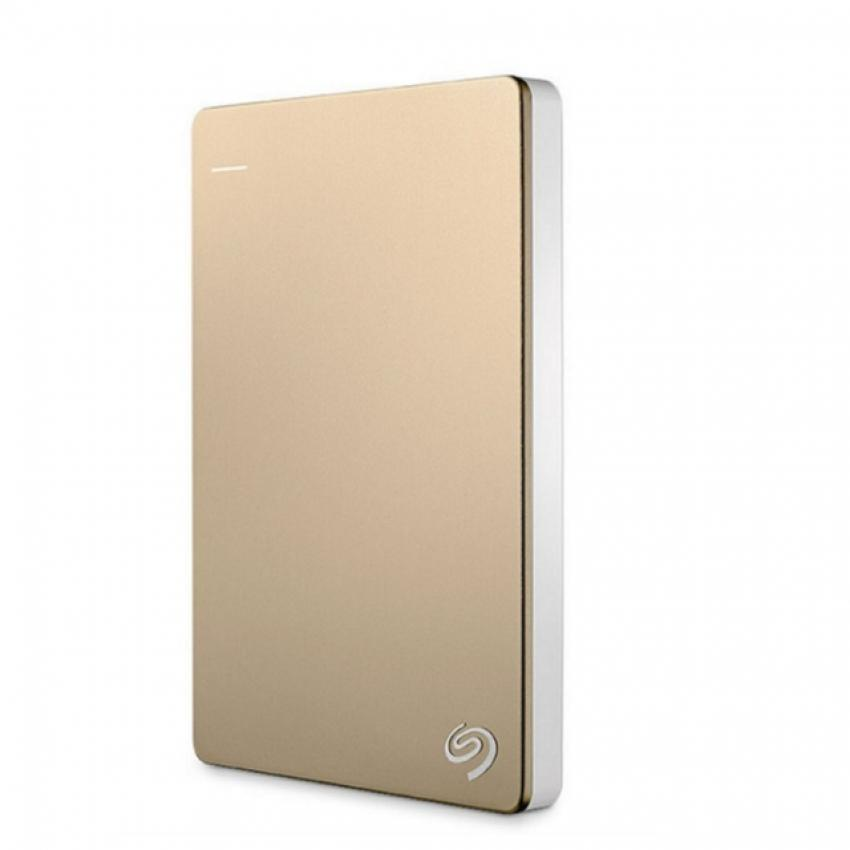 Портативный внешний жесткий диск Seagate HDD 2 TB Backup Plus Ultra Slim , 2.5, USB 3.0, золотой портативный внешний жесткий диск seagate hdd 2 tb backup plus slim 2 5 usb 3 0 красный