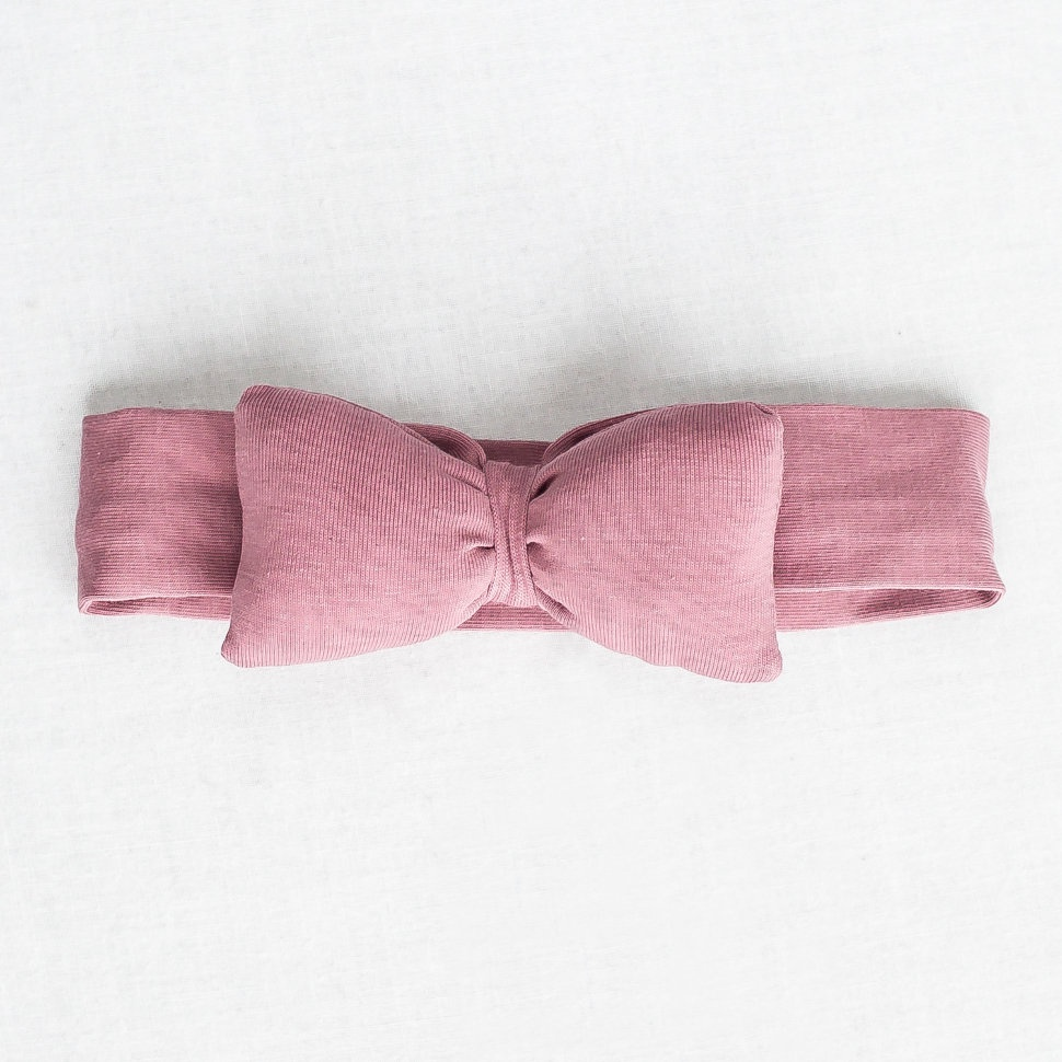 Повязка для волос Trendyco kids Повязка бант-пончик, темно-розовый, темно-розовый