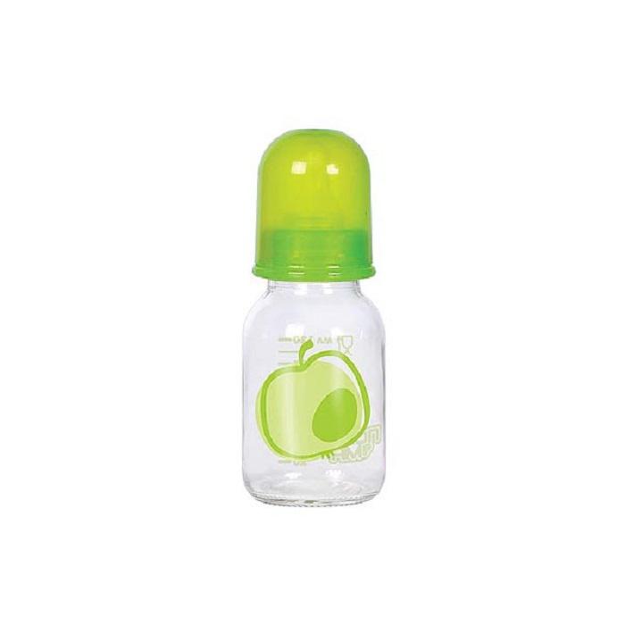 Бутылочка для кормления ПОМА 120 мл зеленый, прозрачный