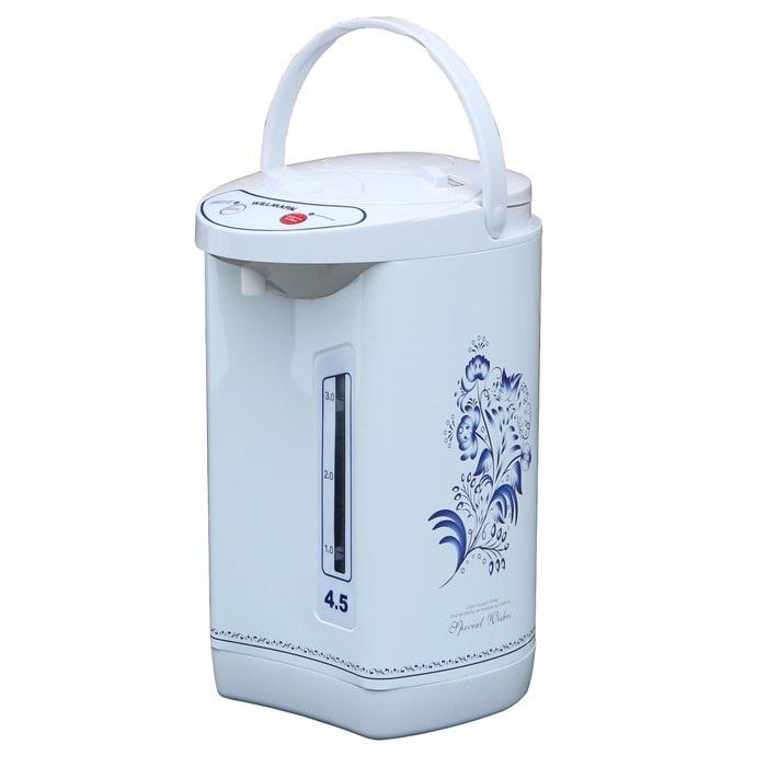 Термопот WILLMARK WAP-453CGZ (4,5л, 3 сп. налива воды, гжель, 800Вт) термопот willmark wap 502kl