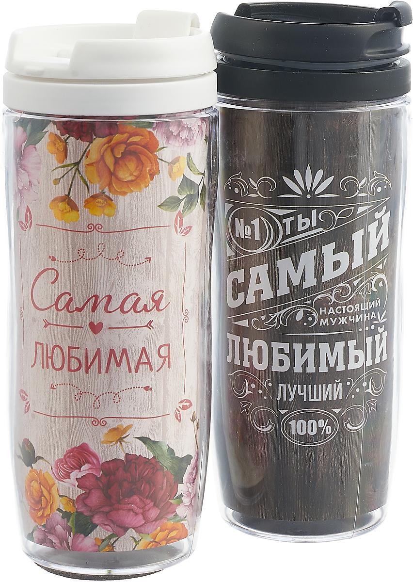 """Набор термостаканов """"Идеальная пара. Цветы"""", 350 мл"""