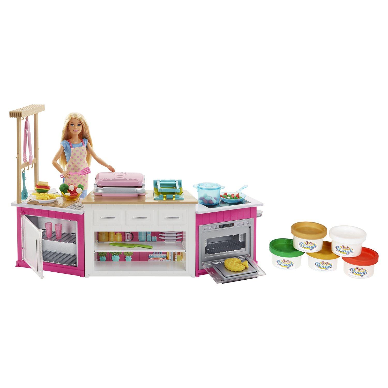 Игровой набор с куклой Barbie супер кухня с куклой barbie игровой набор с куклой принцесса и радужные качели