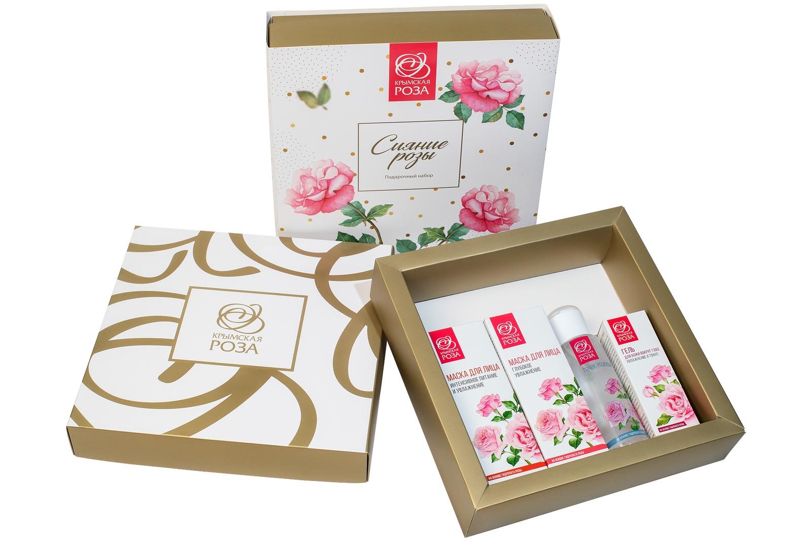 Набор косметики для ухода за кожей Крымская роза Сияние Розы, 900 недорго, оригинальная цена