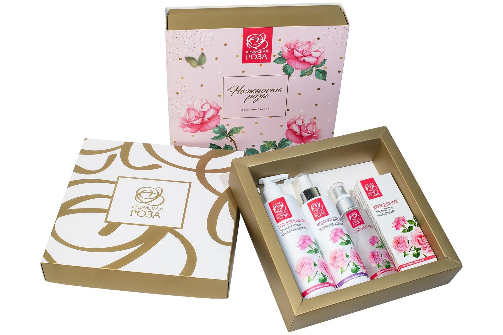 Набор косметики для ухода за кожей Крымская роза Нежность Розы, 900 недорго, оригинальная цена