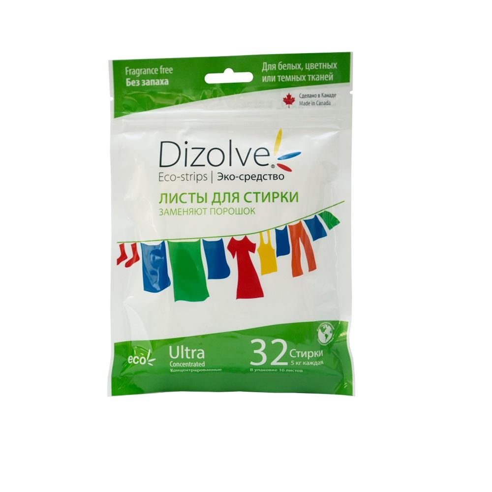 Стиральный порошок Dizolve листы для стирки