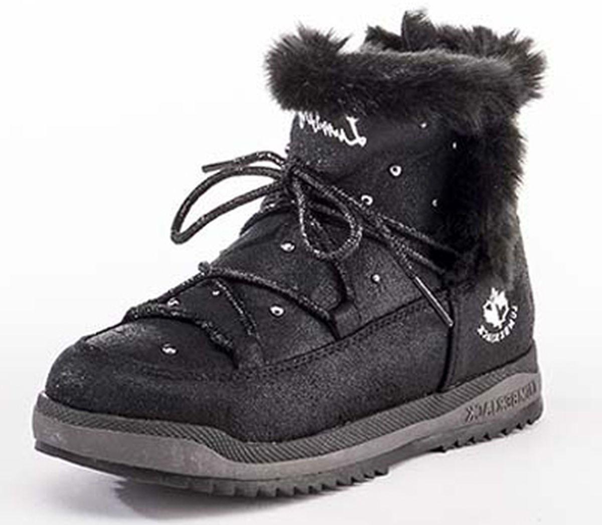 Ботинки для девочки Lumberjack Lagoon, цвет: черный. SG33101-003_Black. Размер 31SG33101-003_BlackСтильные, комфортные и теплые ботинки с мехом Lagoon для девочки отлично подойдут для прогулок на свежем воздухе. Теплая, практичная и удобная модель выполнена в лучших традициях итальянского бренда Lumberjack из материалов высочайшего качества. Ботинки очень красиво смотрятся на ноге, подходят как к юбкам, так и к платьям. Модель выполнена из ламинированной замши. Ботинки обязательно понравятся вашей юной моднице и займут достойное место в ее гардеробе. Материал: 100% ламинированная замша