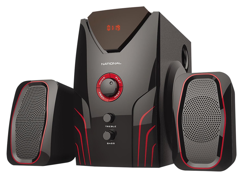 Акустическая система National NAS-1230, черный, красный