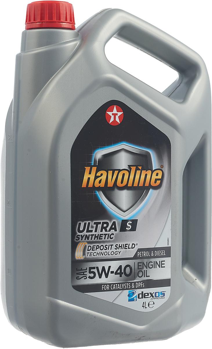 Моторное масло Texaco Havoline Ultra S 5W40, 801339MHE, 4 л