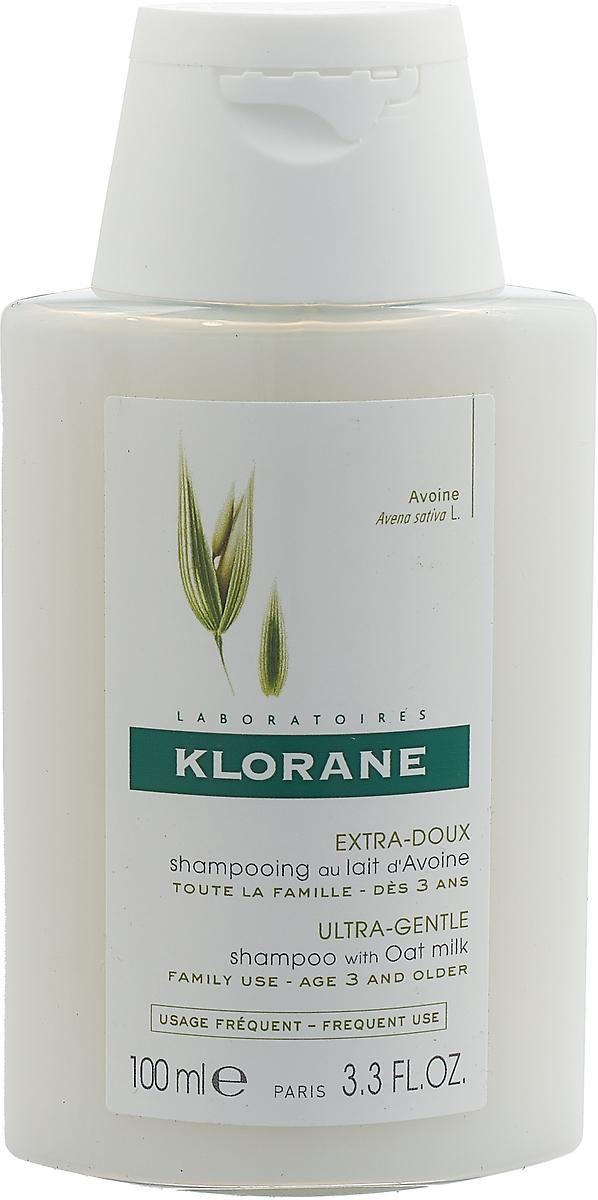 Шампунь для волос Klorane Ultra Gentle, с овсом, для частого применения, 100 мл шампунь для волос klorane ultra gentle с овсом для частого применения 100 мл