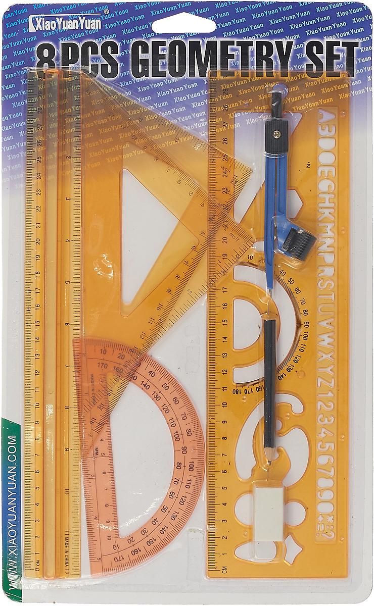Геометрический набор, 7 предметов, желтый167128_желтыйНабор геометрический — необходимый инструмент рабочего стола. Набор может понадобиться при изучении любого школьного предмета. Провести прямую линию и начертить отрезок на уроке математики? Легко! Подчеркнуть подлежащее, сказуемое или деепричастный оборот в домашнем задании по русскому языку? Проще простого! Возможности применения этого приспособления широки: оно пригодится как на занятиях в учебном заведении, так и при выполнении работы дома, а также поспособствует развитию начальных навыков черчения!