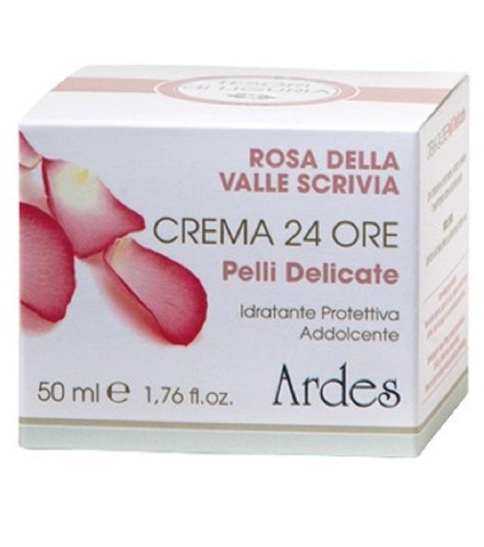 Крем для чувствительной кожи 24 увлажнения.  Crema 24 ore pelli Delicate 50 мл.  Ardes
