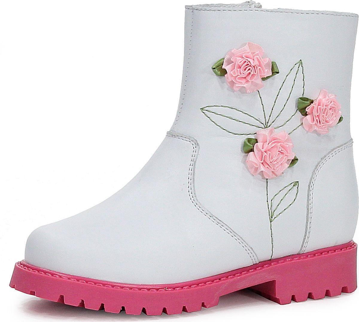 Сапоги для девочки San Marko, цвет: белый. 059215. Размер 30059215