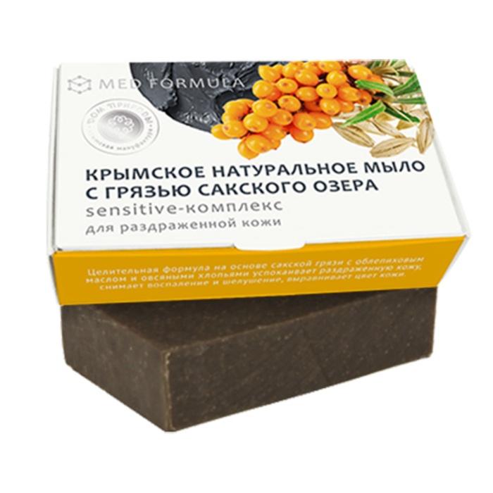 Мыло натуральное на основе грязи Сакского озера Дом природы MED formula Sensitive-комплекс, 100 гр Мануфактура Дом природы