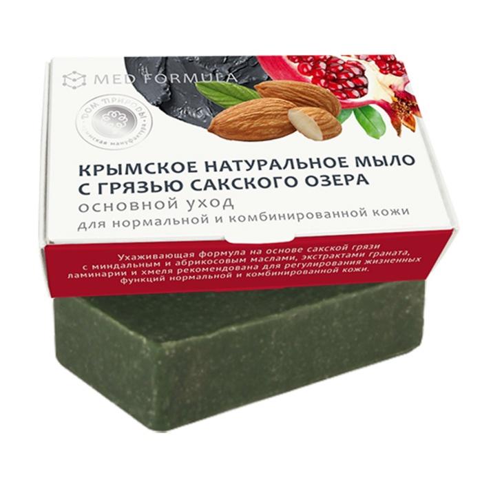 Мыло натуральное на основе грязи Сакского озера Дом природы MED formula Основной уход, 100 гр Мануфактура Дом природы