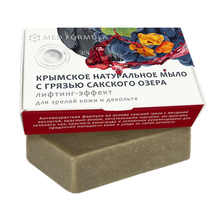 Мыло натуральное на основе грязи Сакского озера Дом природы MED formula Лифтинг-эффект, 100 гр Мануфактура Дом природы