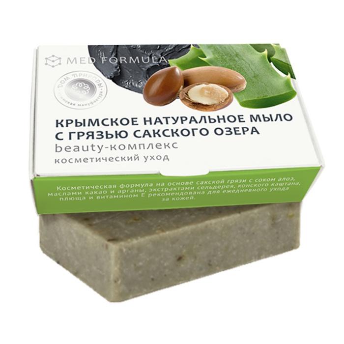 Мыло натуральное на основе грязи Сакского озера Дом природы MED formula Beauty-комплекс, 100 г Мануфактура Дом природы