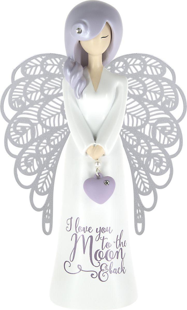 """Статуэтка You are an Angel """"Моя любовь к тебе больше, чем как от Земли до Луны и обратно!"""", AN026, белый"""