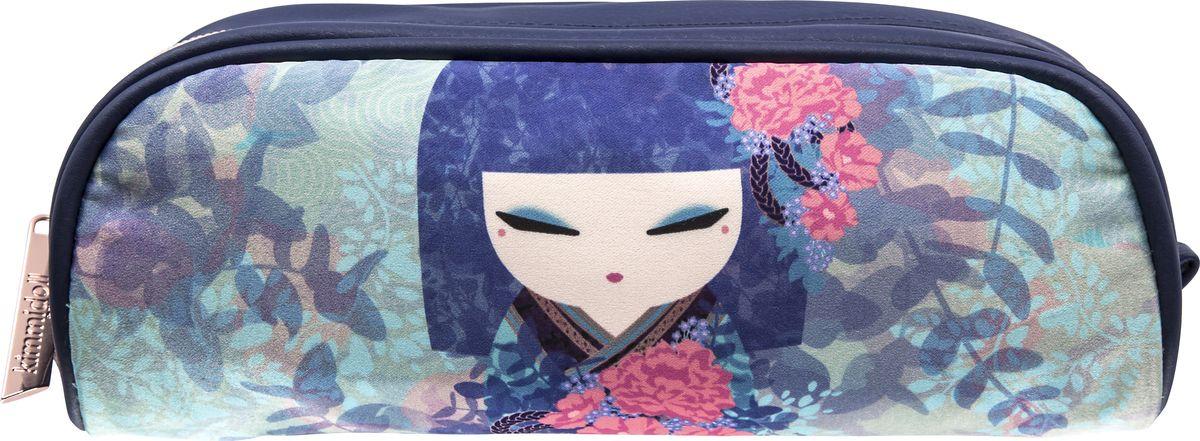Косметичка женская Kimmidoll, KF1214, голубой косметичка женская kimmidoll цвет розовый kf1193