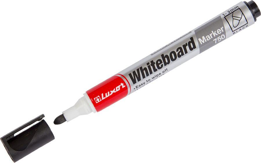 Набор маркеров для белых досок Luxor 750, 233843, черный, 10 шт цена