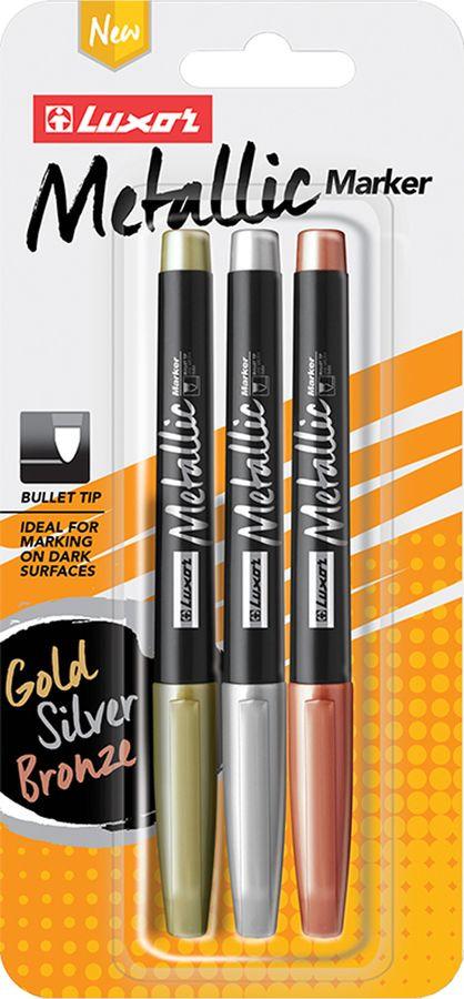 Набор маркеров для декорирования Luxor Metallic, 233842, 3 шт luxor tekna ds 22 3 4