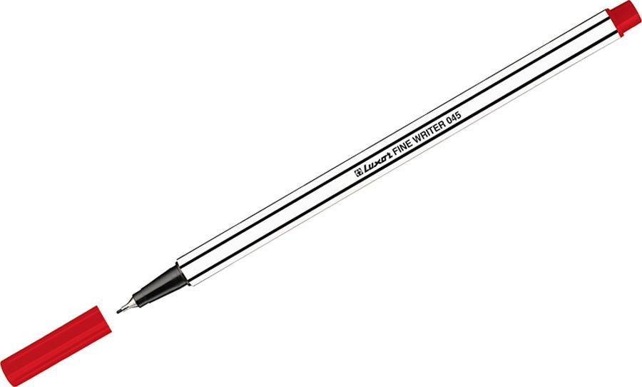 Набор капиллярных ручек Luxor Fine Writer 045, 246642, цвет чернил красный, 10 шт touch набор капиллярных ручек liner цвет чернил черный 7 шт
