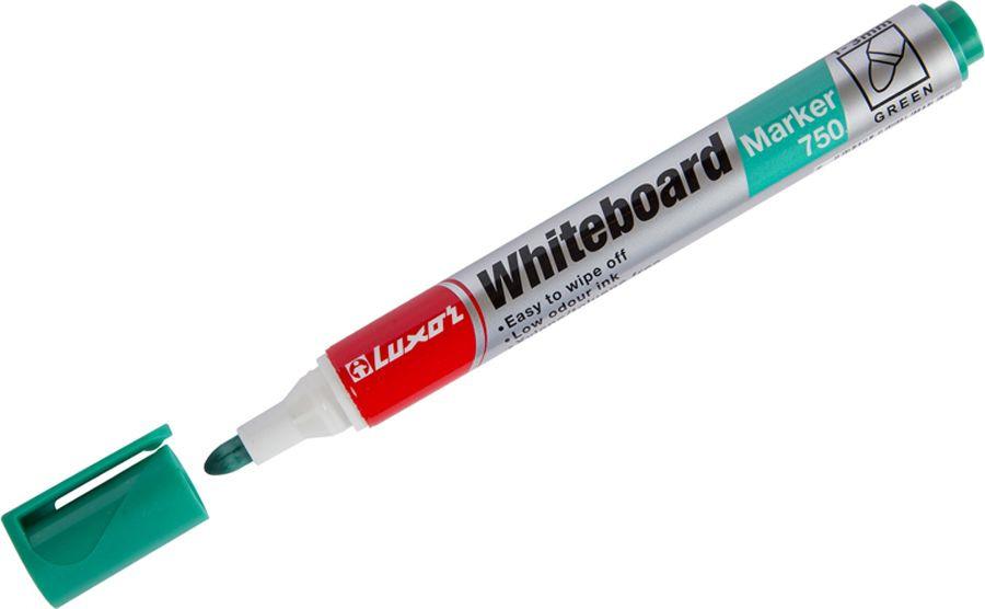 Набор маркеров для белых досок Luxor 750, 233846, зеленый, 10 шт цена