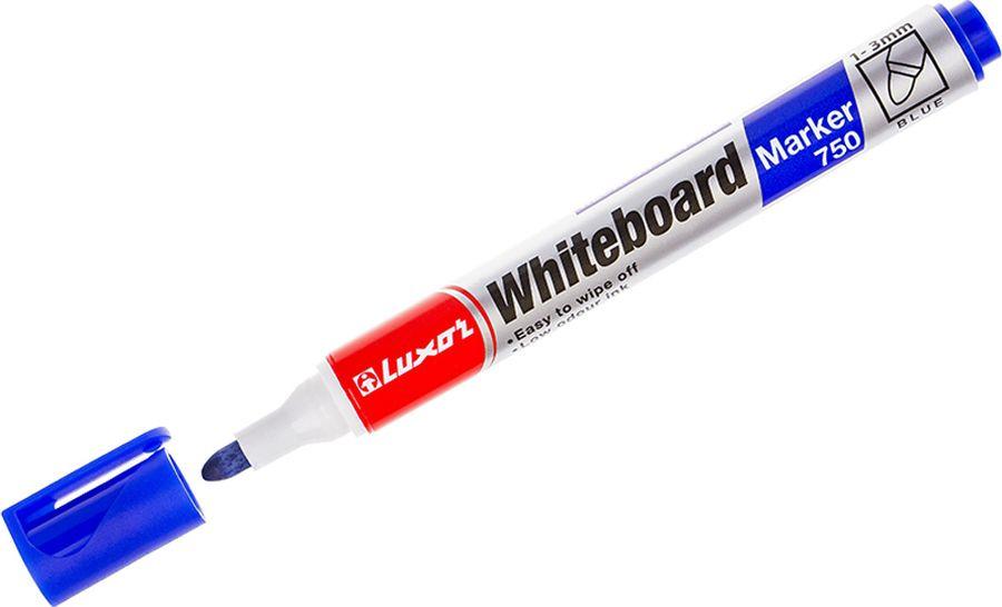 Набор маркеров для белых досок Luxor 750, 233844, синий, 10 шт цена
