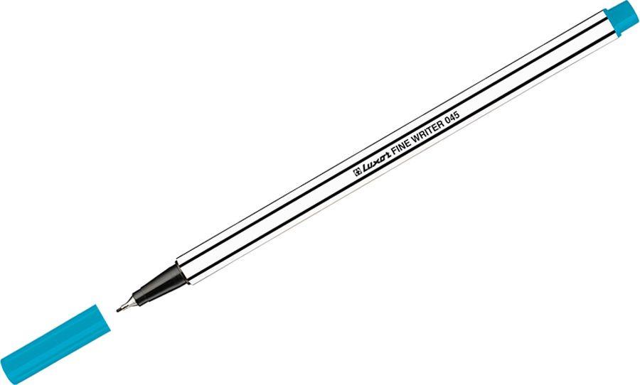 Набор капиллярных ручек Luxor Fine Writer 045, 246646, цвет чернил голубой, 10 шт touch набор капиллярных ручек liner цвет чернил черный 7 шт