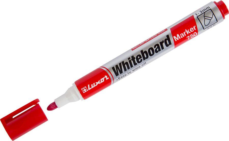 Набор маркеров для белых досок Luxor 750, 233845, красный, 10 шт цена