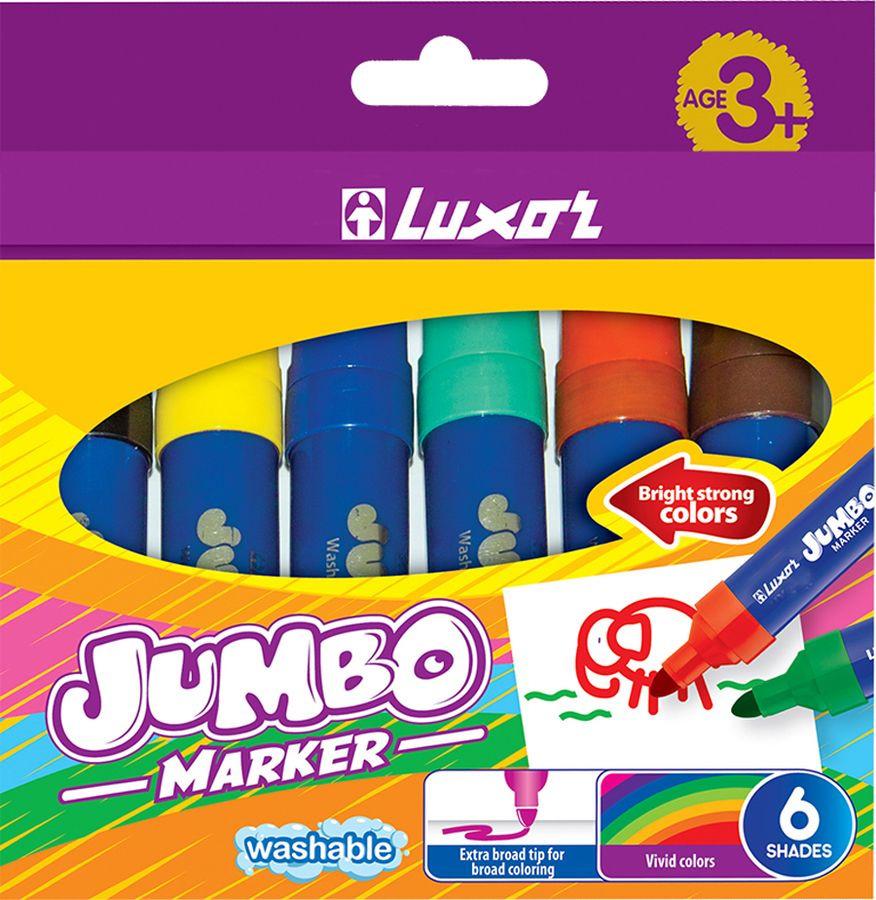Фломастеры Luxor Jumbo, 233892, 6 цветов