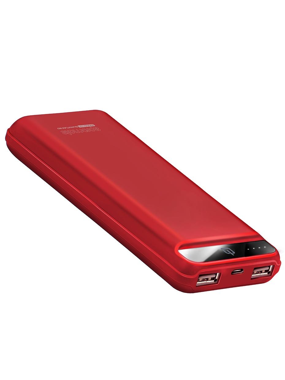 Внешний аккумулятор Promate Quantum-20, красный 2600mah power bank usb блок батарей 2 0 порты usb литий полимерный аккумулятор внешний аккумулятор для смартфонов светло зеленый
