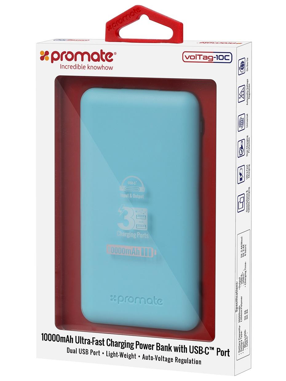 Фото - Внешний аккумулятор Promate VolTag-10C, синий аккумулятор