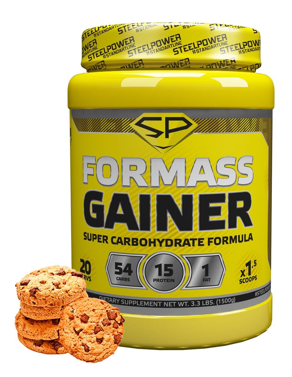 SteelPower Nutrition / Гейнер For Mass Gainer, 1500 г, Молочное печенье