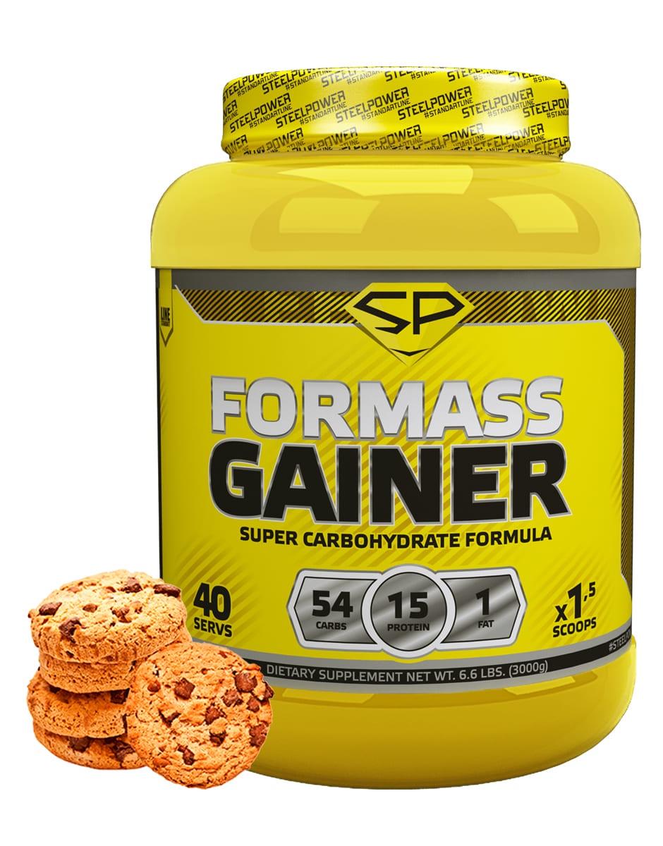 SteelPower Nutrition / Гейнер For Mass Gainer, 3000 г, Молочное печенье