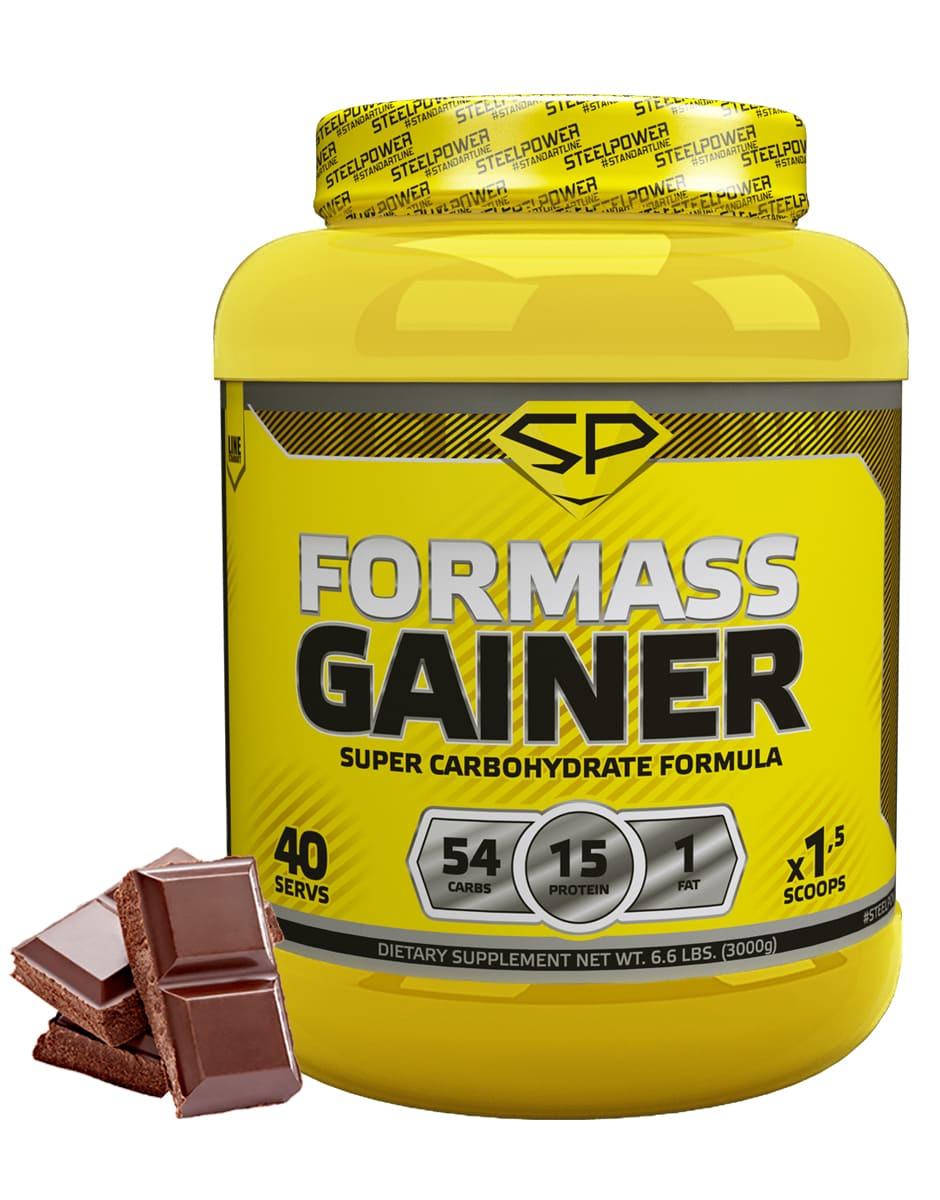 SteelPower Nutrition / Гейнер For Mass Gainer, 3000 г, Классический шоколад