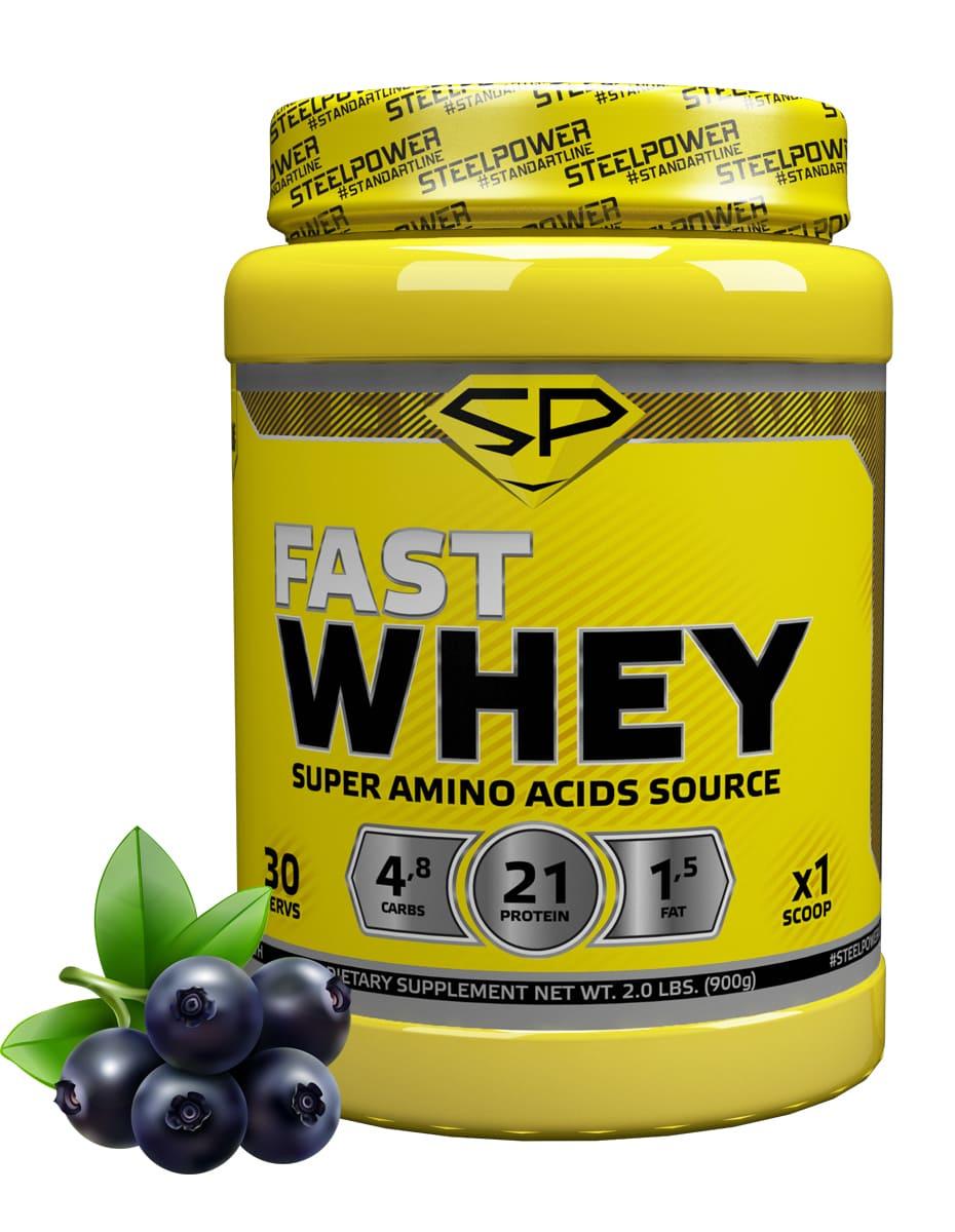 SteelPower Nutrition / Сывороточный протеин Fast Whey, 900 г, Черника