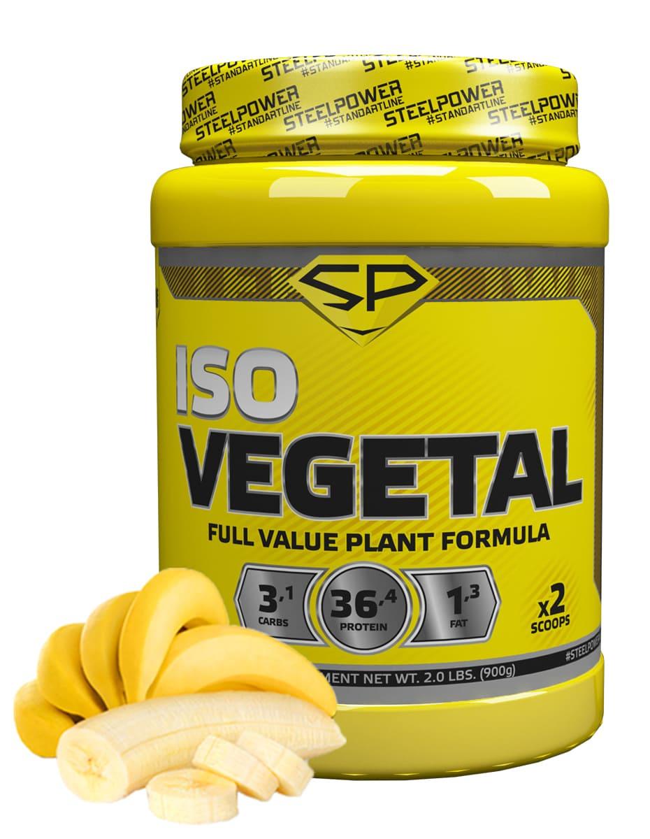 SteelPower Nutrition / Соевый протеин Iso Vegetal, 900 г, Банан